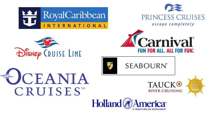 Holland, Royal Carribbean, Oceana, Disney, Carnival, Tauck